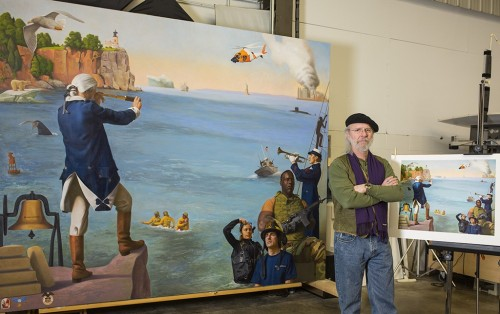 Coast Guard painting at CPL Imaging in Duluth