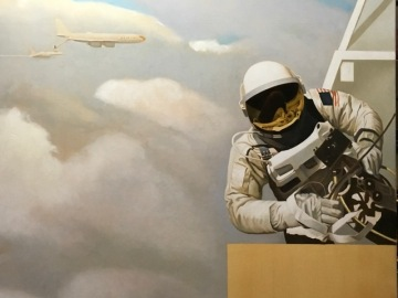 Astronaut (upper right) detail