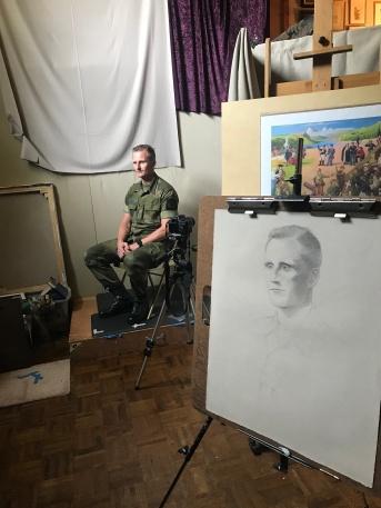 Lt. Col. Gamsk at the studio