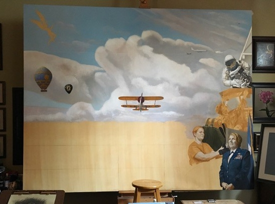 Air Force painting as of 01/27/19
