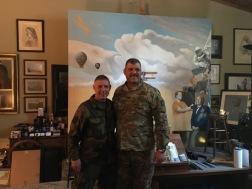 Norwegian Home Guard Navy Captain Kjellin and B.G. Lowel Kruse